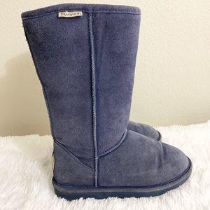 Bearpaw Tall Winter Boots Fur Size 8
